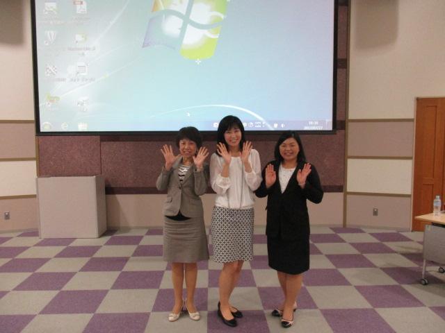 山本恵トレーナー、代表柳沼佐千子、茅根泰子講師